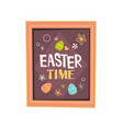 happy easter spring holiday celebration greeting vector image vector image