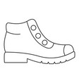 hiking boots icon thin line vector image vector image