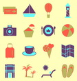 Holiday colorful icons on light background vector image