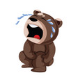 hurted brown teddy bear with injured knee on a vector image vector image