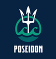 image of poseidons trident vector image