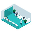 isometric cabinet hospital rear view vector image vector image