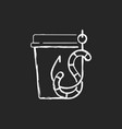 live bait chalk white icon on black background vector image