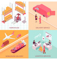logistics services isometric design concept vector image vector image
