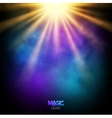 Magic background design magic lights vector image vector image
