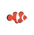 marine life clown fish cartoon sea fauna animal vector image