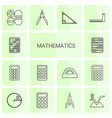 mathematics icons vector image vector image