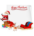 merry christmas santa and sleigh concept vector image