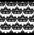 monochrome seamless pattern with tiara royal vector image vector image