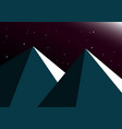 moon night mountain background vector image vector image