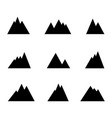 mountains iconthe set of the hills vector image