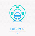 mri scanner thin line icon vector image vector image