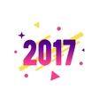 New Year 2017 flat style design concept for banner vector image