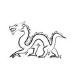 outline draw dragon vector image vector image