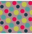 Pattern with green grey polka dots vector image vector image