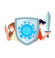 people equipped for protection and fight against vector image vector image