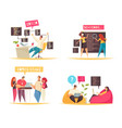 programmer concept icons set vector image vector image