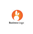 rabbit logo template icon design template app vector image vector image