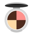Round palette eye shadow icon flat style vector image
