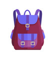 rucksack unisex in purple and blue colors vector image vector image