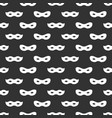 seamless pattern with mask black and white vector image vector image