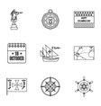 Search of mainland icons set outline style vector image vector image