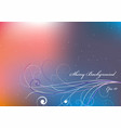 shiny background with pink and orange and blue vector image