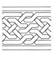 simple moorish interlacement band found in the vector image vector image