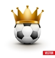Soccer ball with royal crown vector image
