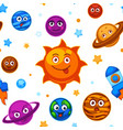 solar system planets with different funny emotions vector image vector image