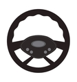 steering wheel car automobile design vector image vector image