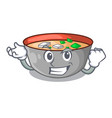 successful asian soup cup isolated on mascot vector image