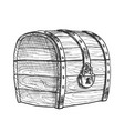 treasure chest protected metal lock vintage vector image vector image