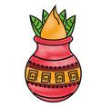 ugadi indian elements scribble vector image vector image