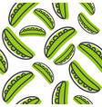 vegetable seamless pattern green pea pod outline vector image