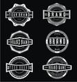 Vintage Grunge Brand Label vector image vector image