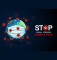 virus around world vector image