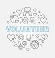 volunteer round outline concept vector image vector image