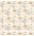 Watercolor Cream Spring flowers Card vector image vector image