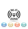 wi-fi network icon isolated on white background vector image vector image