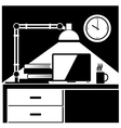 workplace black and white vector image vector image