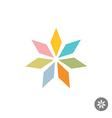 Abstract geometric seven rhombus leaf flower logo vector image