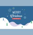 winter sport scene greeting card vector image