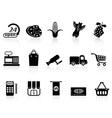 supermarket shopping icon vector image