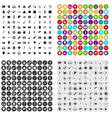 100 show business icons set variant vector image