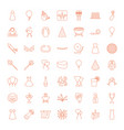 49 party icons vector image vector image