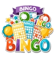 Bingo or lottery game background with balls and vector image vector image
