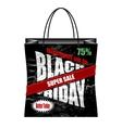 Black Friday paper shopping bag vector image vector image