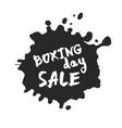 boxing day sale inside ink blot vector image