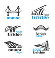 bridge symbol logo template collection vector image vector image